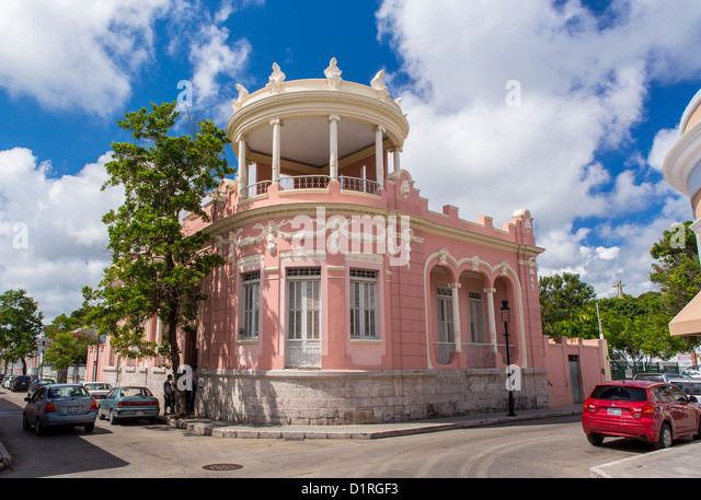 PONCE, PUERTO RICO - Casa Wiechers-Villaronga, historic mansion housing the Ponce Museum of Architecture. - Stock Image