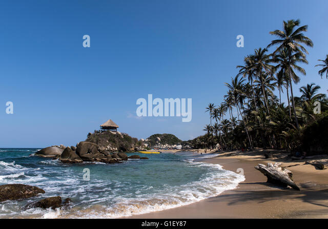 Beach at Tayrona National Park Santa Marta Colombia - Stock Image