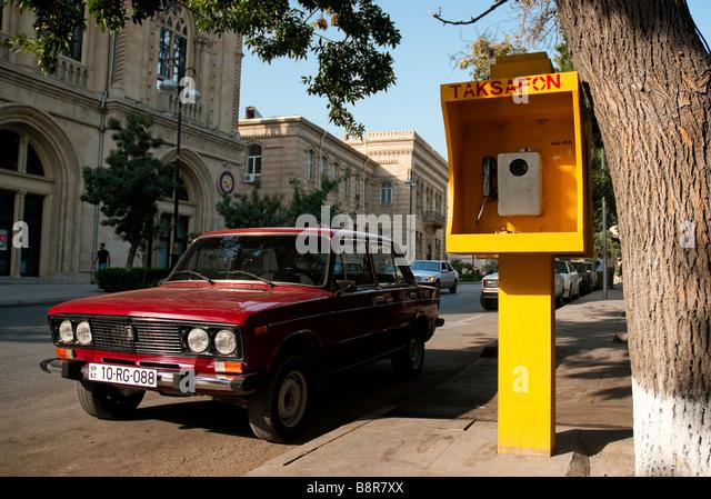 street baku azerbaijan caucasus travel urban soviet - Stock-Bilder