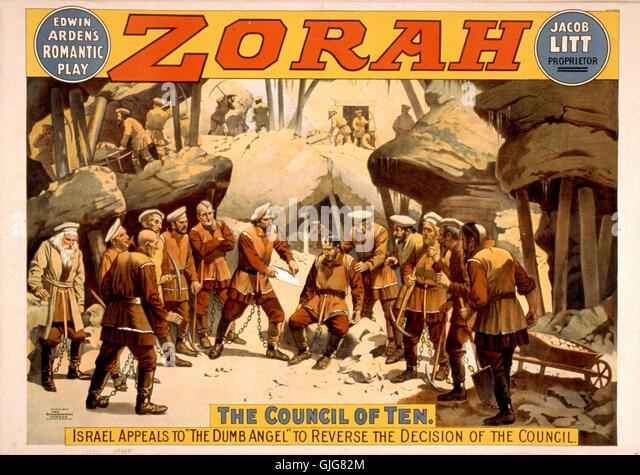 Edwin Arden's romantic play, Zorah - Stock Image