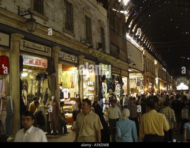 Suq (market) in damascus - Stock Image
