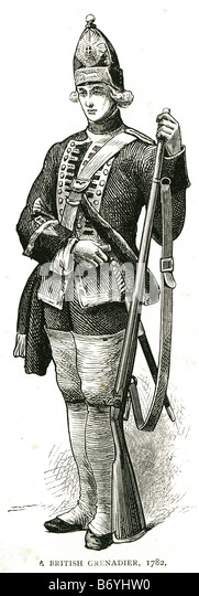 a british grenadier 1782 British military Regimental Quick March Honourable Artillery Company Royal Regiment of - Stock Image