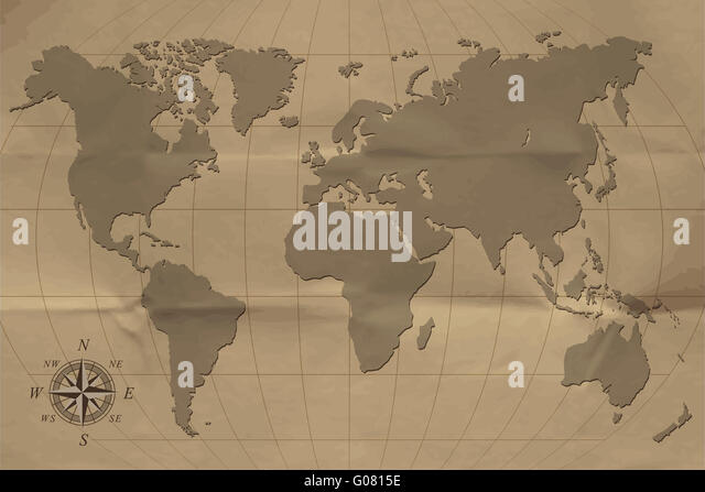 Old map - Stock Image