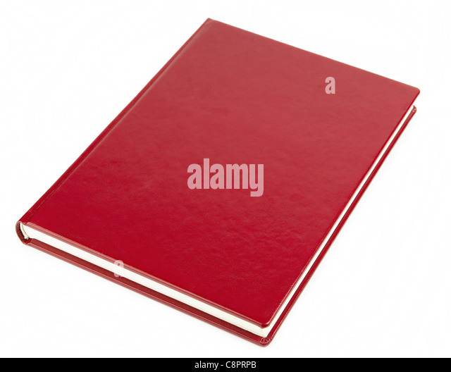 Blank red book cover - Stock Image
