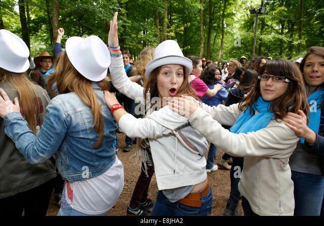 FRAT young catholics' gathering - Stock-Bilder