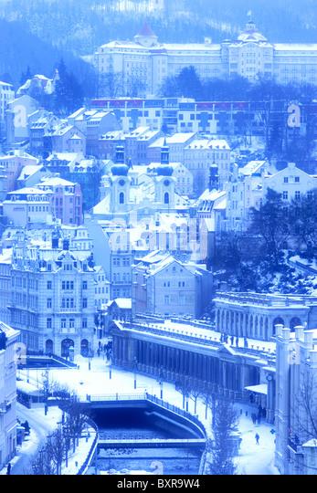 Karlovy Vary,Carlsbad,Czech Republic,Europe - Stock-Bilder
