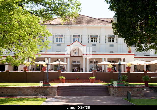 The famous colonial Victoria Falls Hotel, Zimbabwe, Africa - Stock Image