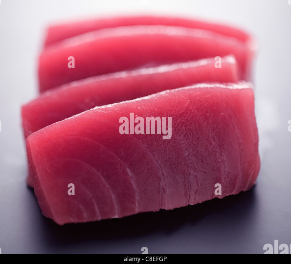 Red tuna sashimis - Stock-Bilder