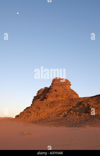 Desert, Wadi Rum, Jordan, Middle East - Stock Image