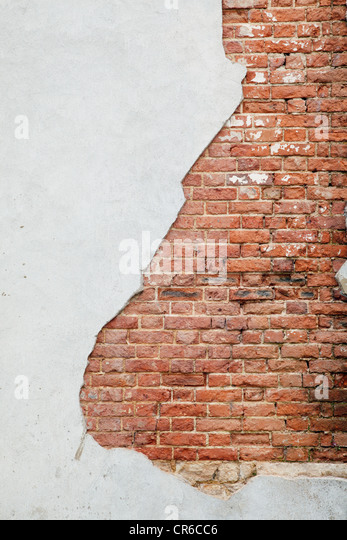 UK, England, Oxford, Background of broken wall - Stock Image