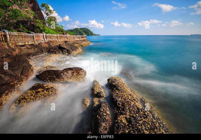 Indonesia, View to Batu Kureta - Stock Image