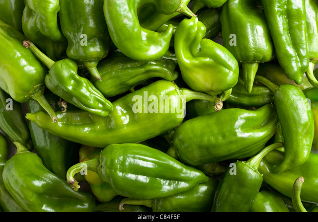 Green Bell Peppers - Stock Image