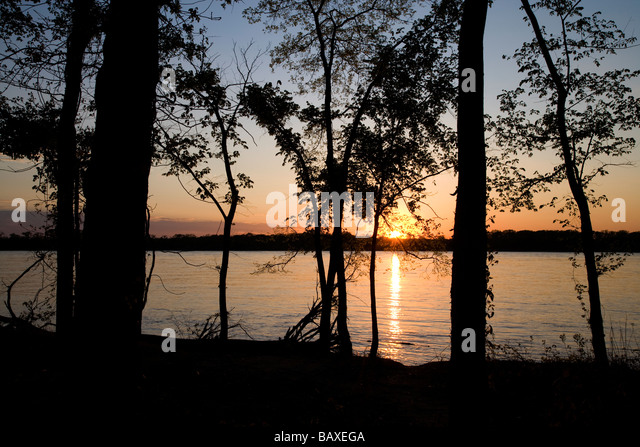 Mississippi River, Lower Hatchie National Wildlife Refuge, Tennessee - Stock-Bilder