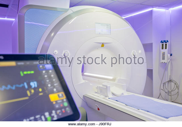 Interior Of Radiography Department With MRI Scanner In Hospital - Stock-Bilder
