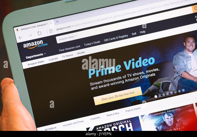 Amazon Prime, Prime Video Registration Sign Up Page, Website Screen - Stock Image