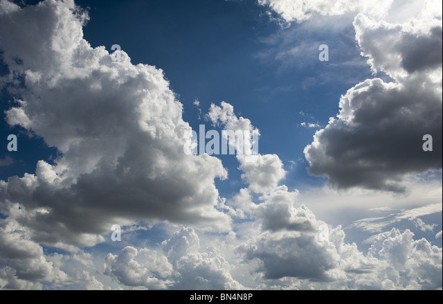 Blue Sky and Clouds - Stock-Bilder