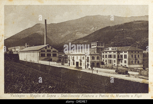 Valdagno, Italy - Textile Factory - Stock Image