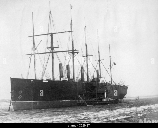 SS GREAT EASTERN  steamship in 1886, designed by Isambard Brunel - Stock-Bilder