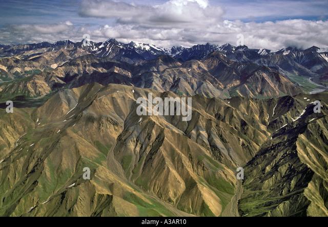 Mineral Rich Polychrome Hills Denali National Park Alaska - Stock Image