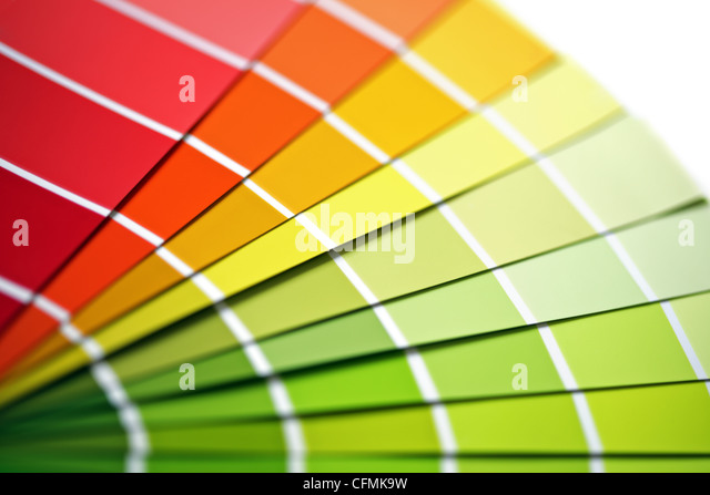 Coloured swatches - Stock Image