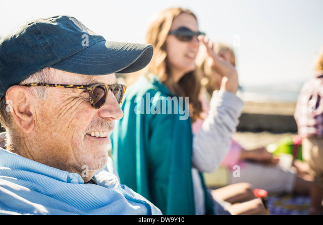 Family gathering, Port Townsend, Washington, US - Stock Image