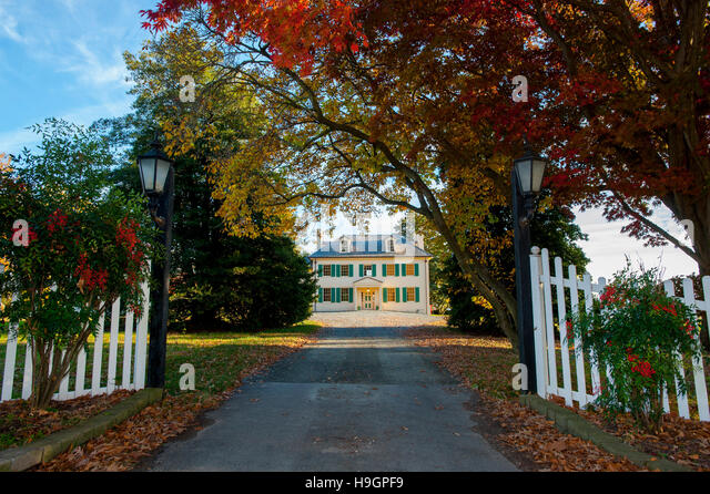 USA Maryland MD Cecil County Mansion at Perry Point Perryville 1750s 1700s on the campus of the Veterans Administration - Stock Image