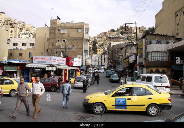 Streets of Amman, Jordan - Stock Image