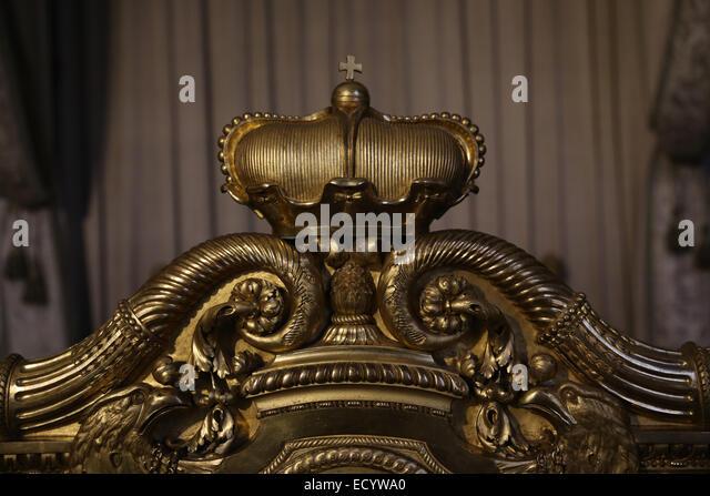 Bavarian king furniture Munich Residenz - Stock-Bilder