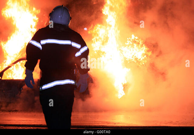 Fire fighting - Stock Image