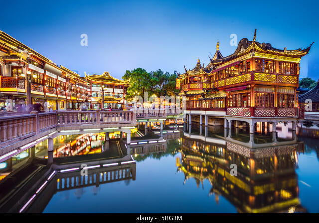Shanghai, China at Yuyuan Gardens. - Stock Image