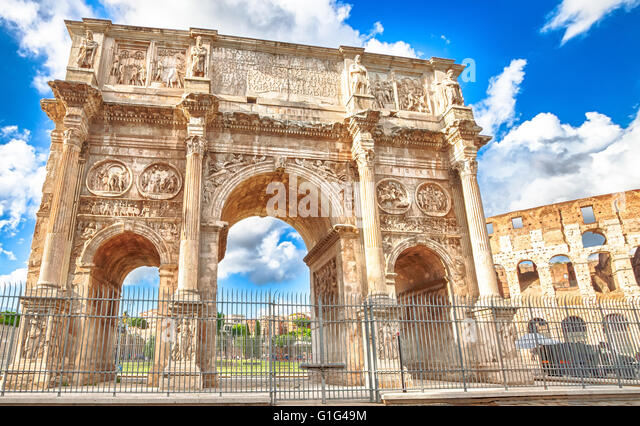 Arch of Constantine Rome - Stock Image