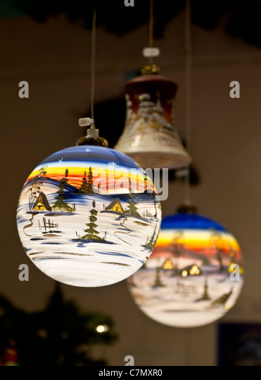 Christmas Baubles Germany : Christmas decoration factory stock photos