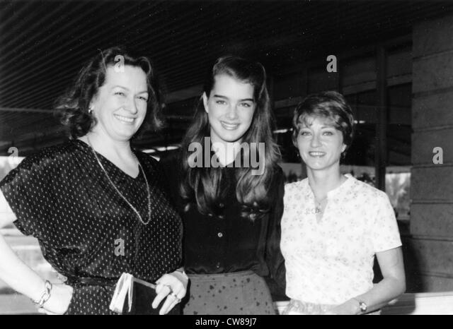 Brooke Shields with her mother Terry(l) and Judie Williamson (r), Director of the film festival., Hialeah, Florida, - Stock Image