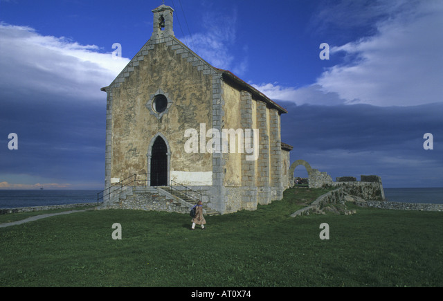 Hermitage of Santa Catalina Mundaka Vizcaya The Basque country Spain - Stock Image