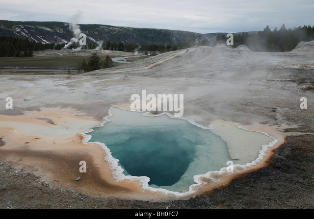 Heart Spring near Old Faithful in Yellowstone National Park, Wyoming, USA. - Stock Image