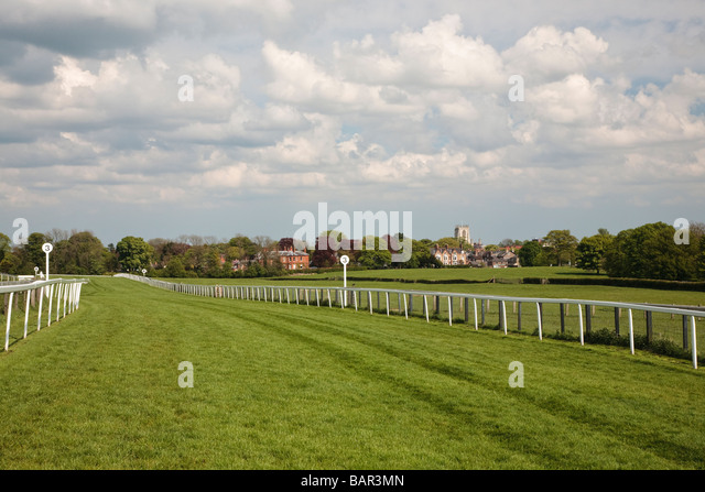 Race course Beverley Westwood Beverley East Yorkshire England UK - Stock Image