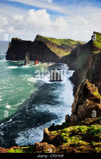 Ponta do Castelo, Madeira, Portugal, Atlantic Ocean, Europe - Stock Image
