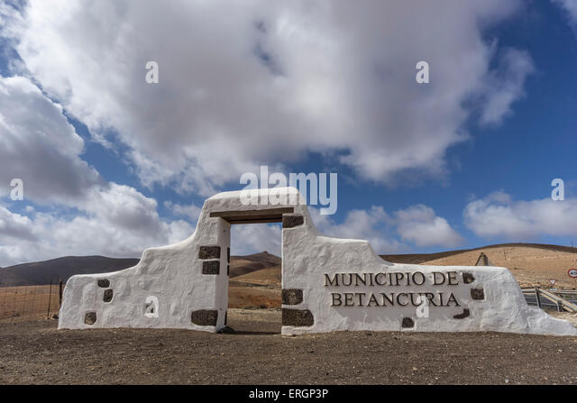 Cathedral church of Saint Mary of Betancuria in Fuerteventura , Canary Islands, Spain - Stock Image