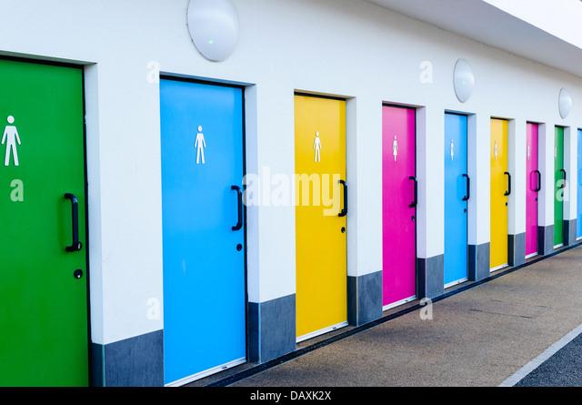 public bathroom doors. Brightly Coloured Public Toilet Doors - Stock Image Bathroom 2