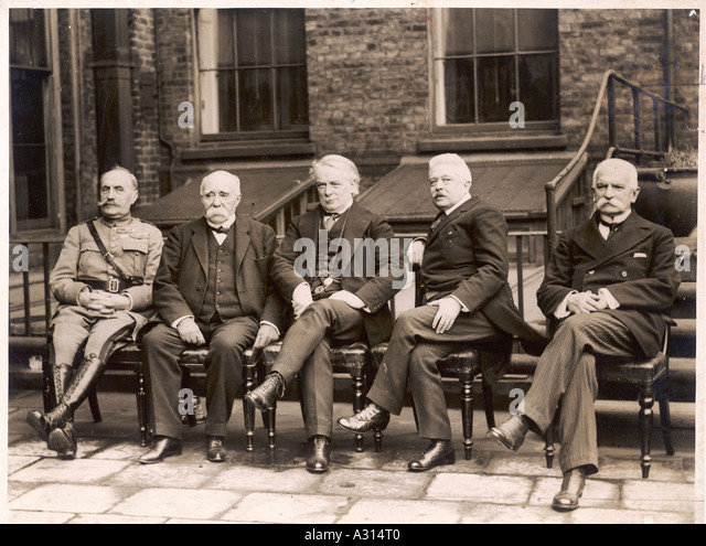 Treaty Of Versailles - Stock Image