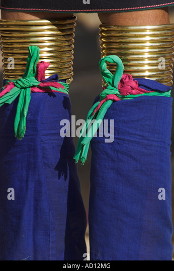 Myanmar, Shan  State, View of Paudaung lady's legs - Stock-Bilder
