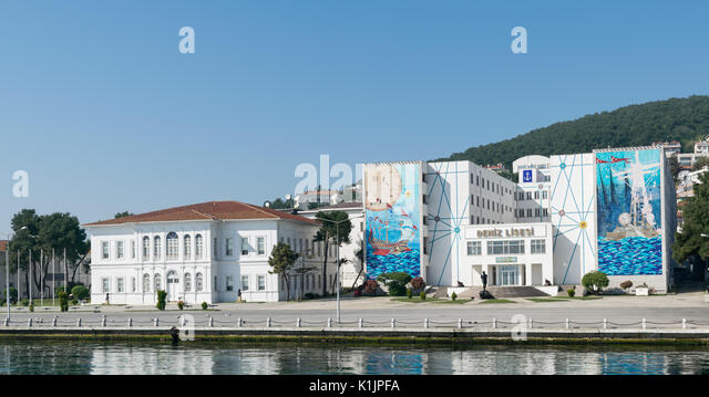 Istanbul, Turkey - April 27, 2017: Naval High School, located on Heybeliada Island (the second largest of the Prince - Stock Image