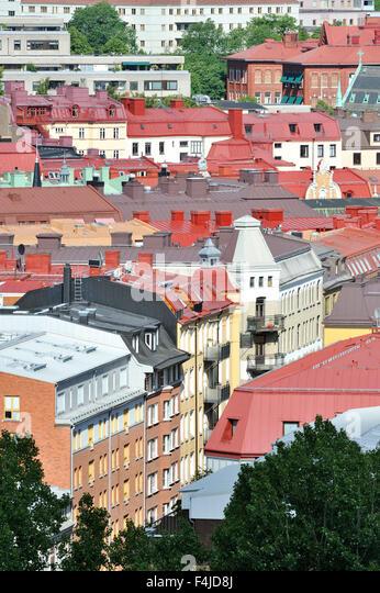 city color image community facade Gothenburg house metropolis Scandinavia suburb Sweden urban scene vertical - Stock-Bilder