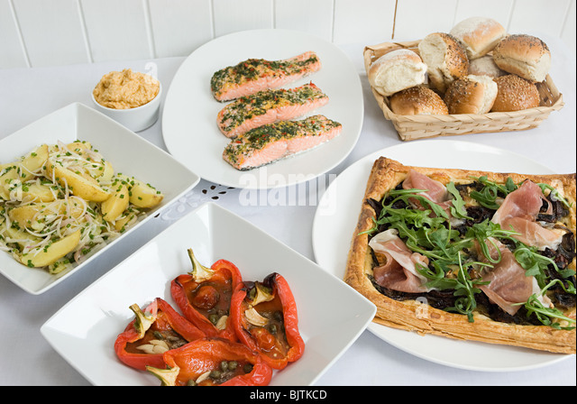 Selection of dishes - Stock Image