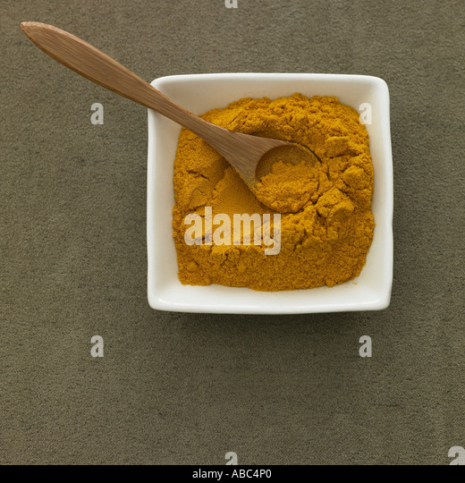 Turmeric powder - one of a series of spice images - Stock Image