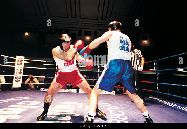 Boxing Fight club in London - Stock Image