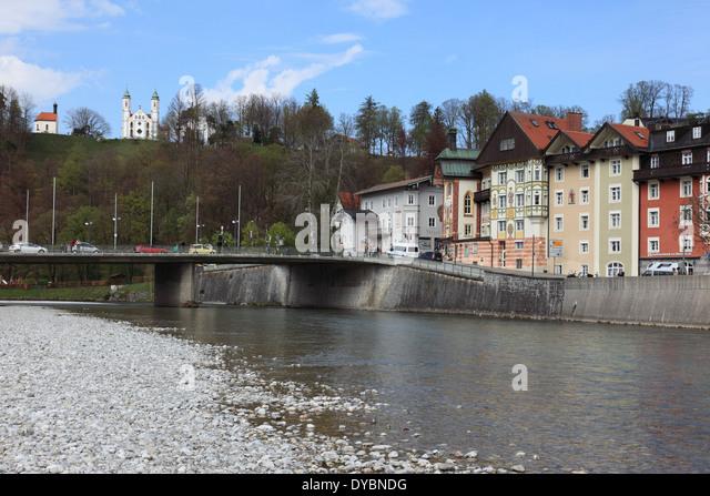 Bad Toelz, Upper Bavaria, Germany. Photo by Willy Matheisl - Stock Image