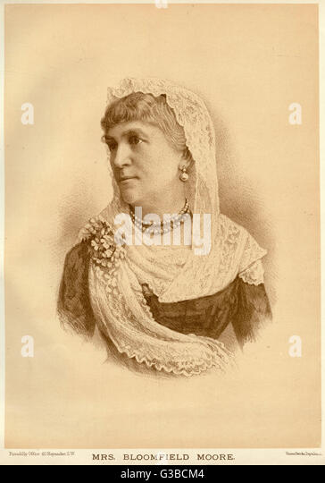 Unidentified Victorian  actress of the older  generation.       Date: 1889 - Stock Image