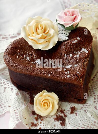 moist chocolate cake - Stock Image