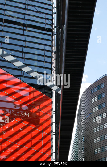 Abstract shot of modern architecture in London - Stock Image